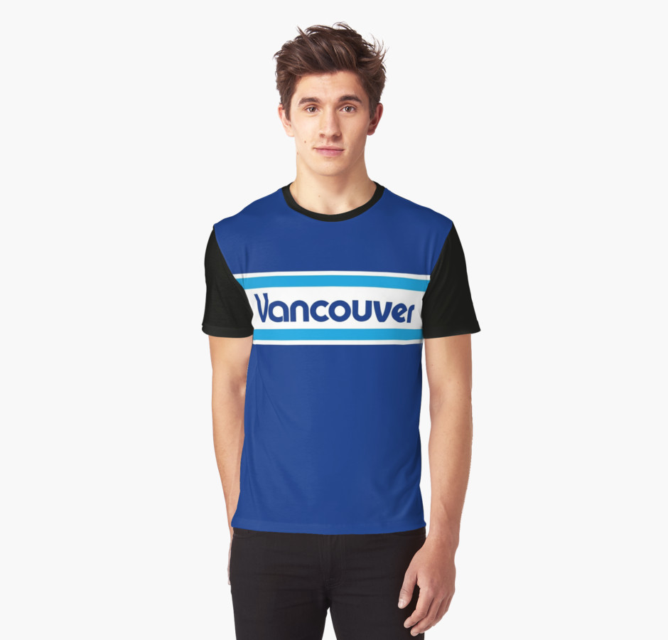 Vancouver whitecaps 1979 home t shirt for Vancouver t shirt printing